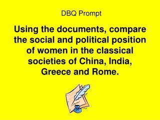 DBQ Prompt