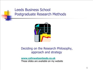Leeds Business School Postgraduate Research Methods