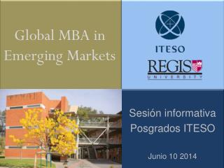 Global MBA in  Emerging Markets