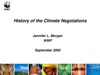 History of the Climate Negotations Jennifer L. Morgan WWF September 2005