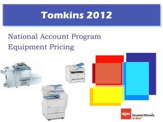 National Account Program Equipment Pricing