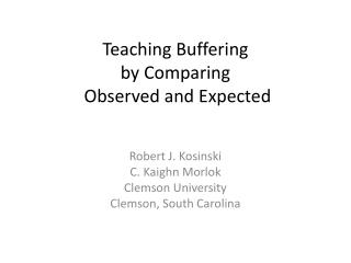 Teaching Buffering by Comparing Observed and Expected
