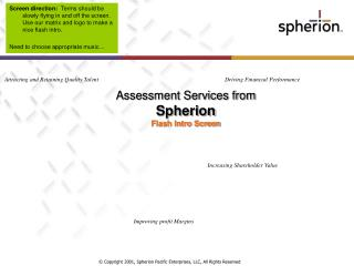 Assessment Services from  Spherion  Flash Intro Screen