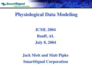 Physiological Data Modeling
