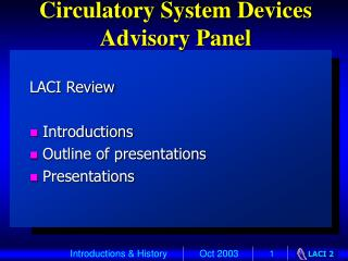 Circulatory System Devices Advisory Panel
