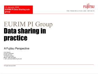 EURIM PI Group  Data sharing in practice
