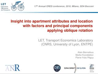 LET, Transport Economics Laboratory (CNRS, University of Lyon, ENTPE)