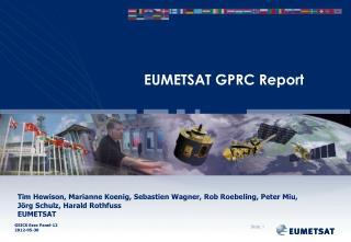 EUMETSAT GPRC Report