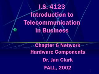 I.S. 4123 Introduction to Telecommunication in Business