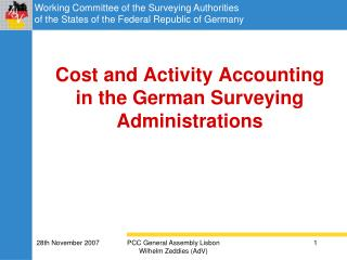 Cost and Activity Accounting in the German Surveying Administrations