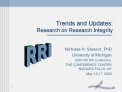 Trends and Updates:  Research on Research Integrity