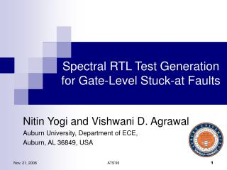 Spectral RTL Test Generation  for Gate-Level Stuck-at Faults