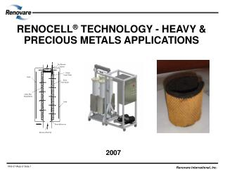 RENOCELL ®  TECHNOLOGY - HEAVY & PRECIOUS METALS APPLICATIONS