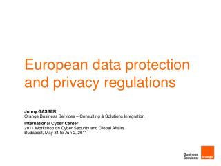 European data protection and privacy regulations