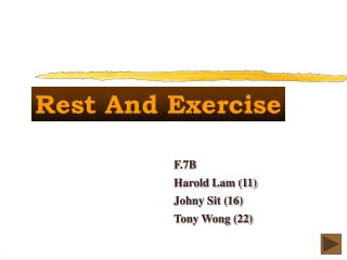 Rest And Exercise
