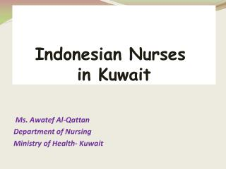 Indonesian Nurses  in Kuwait