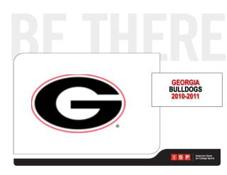GEORGIA BULLDOGS 2010-2011
