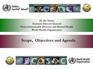 Scope,  Objectives and Agenda