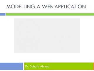 Modelling a Web Application