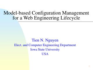 Model-based Configuration Management for a Web Engineering Lifecycle