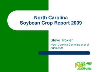 North Carolina  Soybean Crop Report 2009