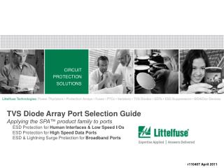 CIRCUIT PROTECTION SOLUTIONS