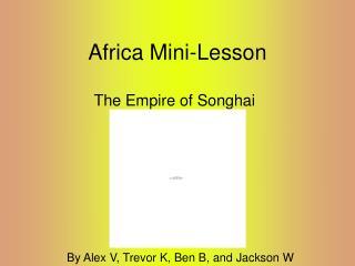 Africa Mini-Lesson