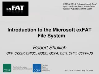 Introduction to the Microsoft exFAT File System