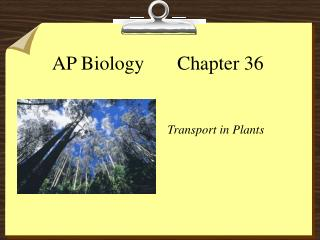 AP Biology       Chapter 36