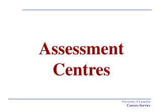 Assessment Centres