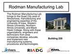 Rodman Manufacturing Lab