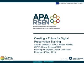 Creating a Future for Digital Preservation Training