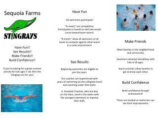 Sequoia Farms Have Fun!! See Results!! Make Friends!! Build Confidence!!