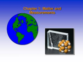 Chapter 1: Matter and Measurements