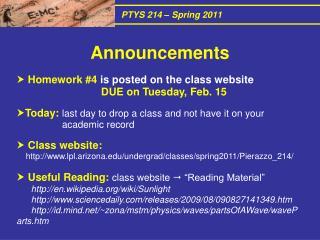 PTYS 214 – Spring 2011
