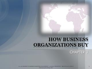 HOW BUSINESS  ORGANIZATIONS BUY