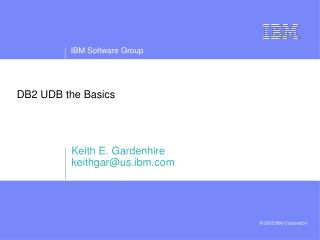 DB2 UDB the Basics