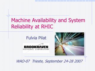 Machine Availability and System Reliability at RHIC