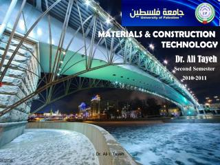 MATERIALS & CONSTRUCTION TECHNOLOGY