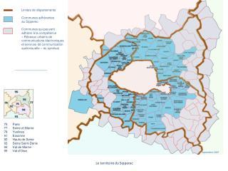 Limites de départements Communes adhérentes au Sipperec Communes qui peuvent