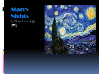 Starry Nights by Vincent van Gogh  (1889)