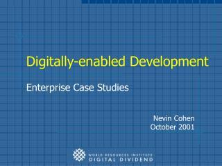 Digitally-enabled Development