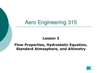Aero Engineering 315