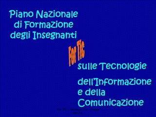 For TIC - Antonietti U1a - Gruppo DELTA -