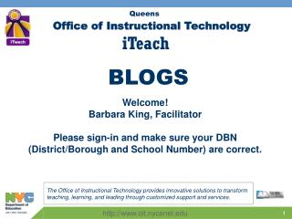 Office of Instructional Technology