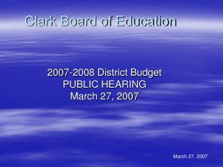 Clark Board of Education