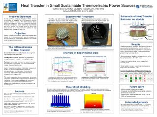 Heat Transfer in Small Sustainable Thermoelectric Power Sources