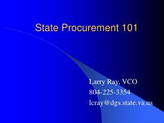 State Procurement 101