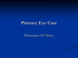 Primary Eye Care