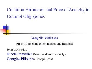 Coalition Formation and Price of Anarchy in Cournot Oligopolies
